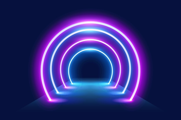 Papel de parede com luzes de neon