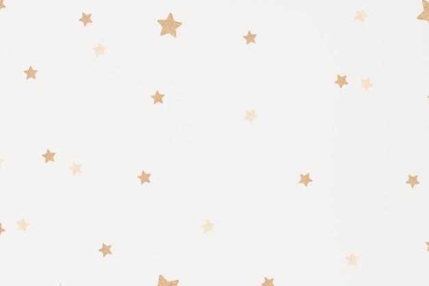 Papel de parede com padrão artístico cintilante de estrelas douradas de vetor