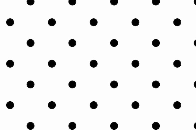 Papel de parede com padrão bonito de bolinhas preto e branco
