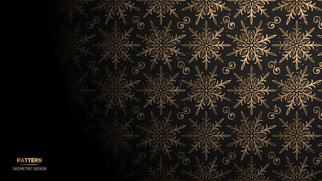 Papel de parede com padrão de mandala.