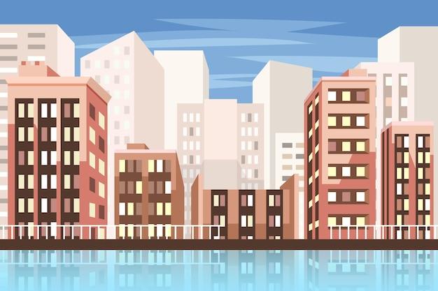 Papel de parede com tema de cidade urbana