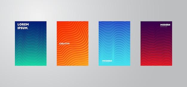 Papel de parede composição de formas gradiente na moda