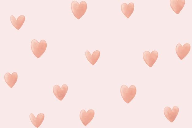 Papel de parede da área de trabalho do fundo do coração, vetor fofo