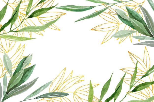 Papel de parede da natureza com folha dourada