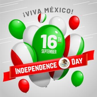 Papel de parede de balão de independência do méxico