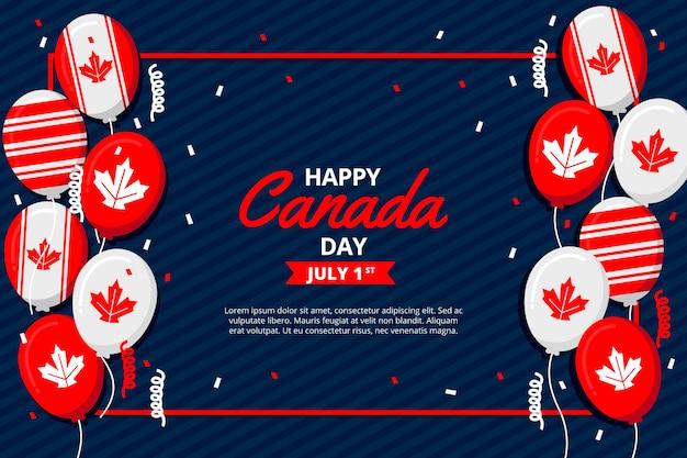 Papel de parede de balões do dia do canadá