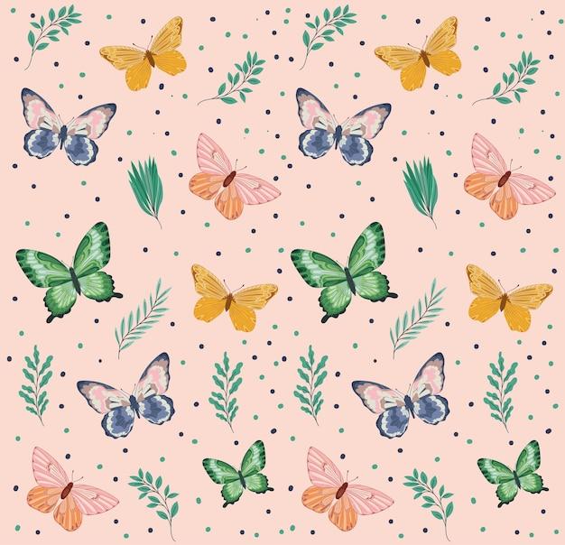 Papel de parede de borboletas fofas