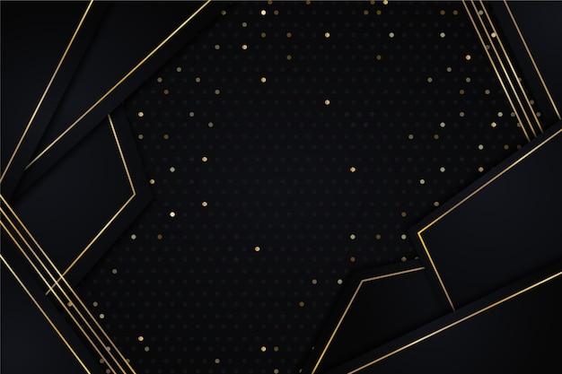 Papel de parede de camadas de papel escuro com detalhes dourados