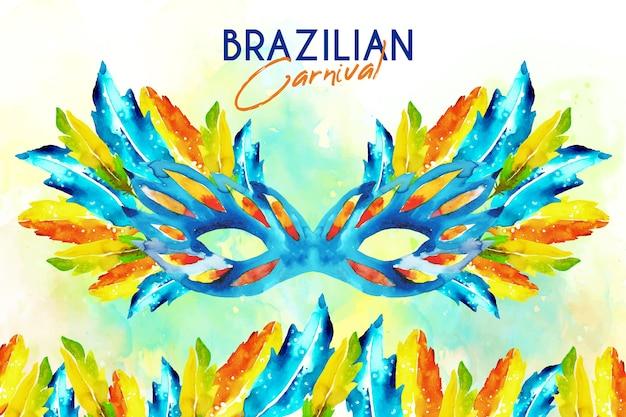 Papel de parede de carnaval brasileiro em aquarela
