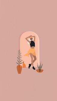Papel de parede de celular fashionista feminino