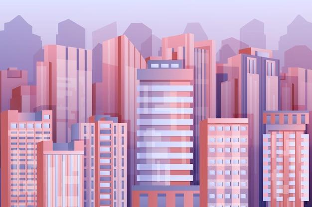 Papel de parede de cidade urbana para videoconferência