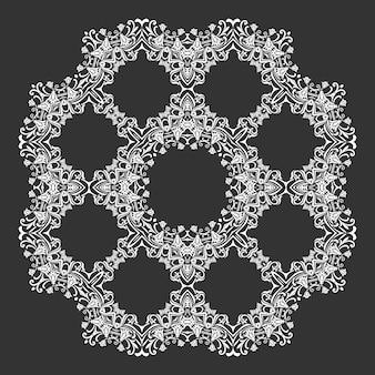Papel de parede de damasco padrão de ornamento de renda circular