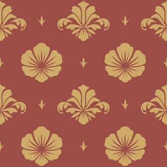 Papel de parede de design barroco. renascimento de ornamento de padrão floral sem emenda,