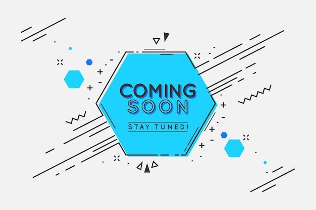 Papel de parede de design plano em breve