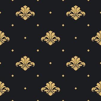 Papel de parede de design real barroco. padrão de design de fundo perfeito,