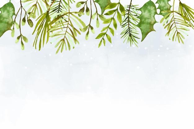 Papel de parede de feliz natal em aquarela