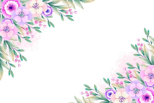 Papel de parede de flores em aquarela em tons pastel