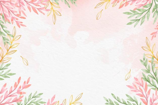 Papel de parede de folhas com folha metálica