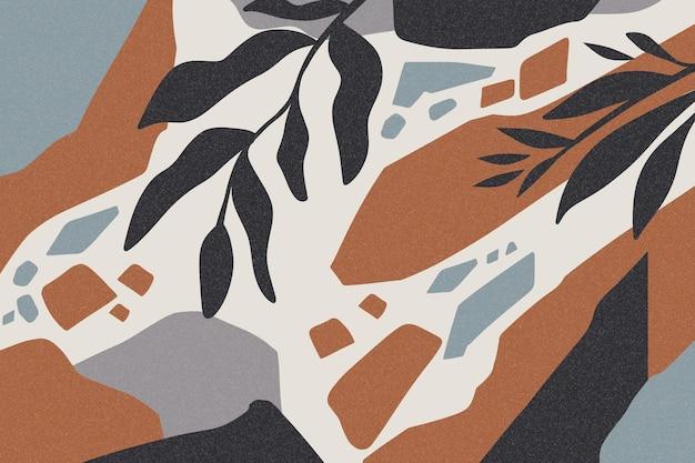 Papel de parede de formas abstratas desenhadas à mão