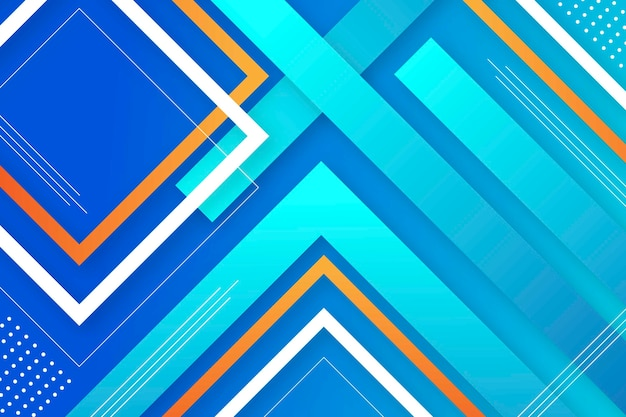 Papel de parede de formas geométricas gradientes