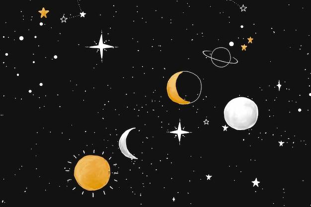 Papel de parede de fundo da galáxia, vetor espacial
