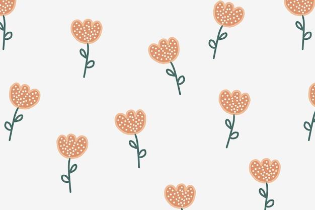 Papel de parede de fundo de flores, vetor fofo