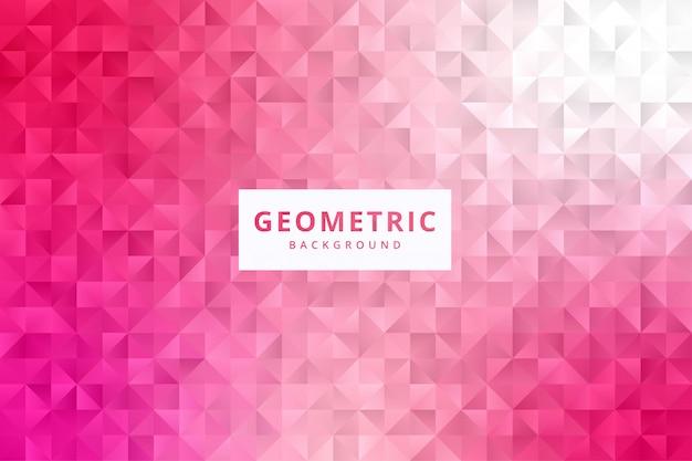 Papel de parede de fundo de padrão geométrico abstrato elegante em vetor de cor rosa