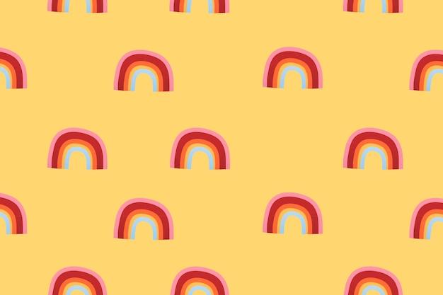 Papel de parede de fundo do padrão de tempo do arco-íris, ilustração vetorial