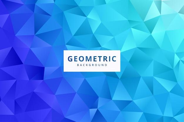 Papel de parede de fundo elegante padrão geométrico abstrato em vetor de cor azul