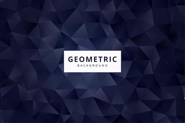 Papel de parede de fundo elegante padrão geométrico abstrato em vetor de cor marinho