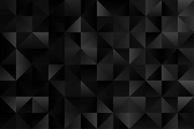Papel de parede de fundo elegante padrão geométrico abstrato em vetor de cor preta