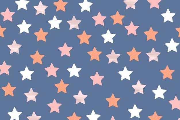 Papel de parede de fundo estrela, vetor fofo