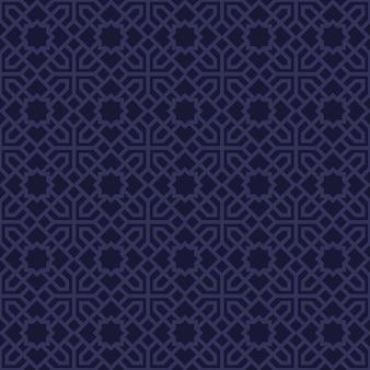 Papel de parede de fundo islâmico geométrico sem costura padrão de luxo em estilo batik