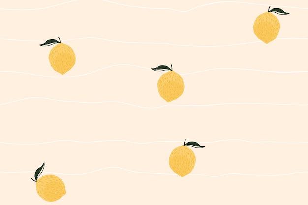 Papel de parede de fundo limão, vetor fofo