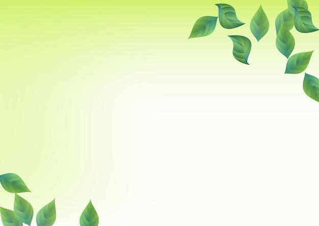Papel de parede de fundo verde de vetor de movimento verde oliva. conceito de folha de ecologia. molde do vôo da folha do pântano. folhas padrão de vento.