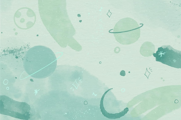 Papel de parede de galáxia aquarela monocromática
