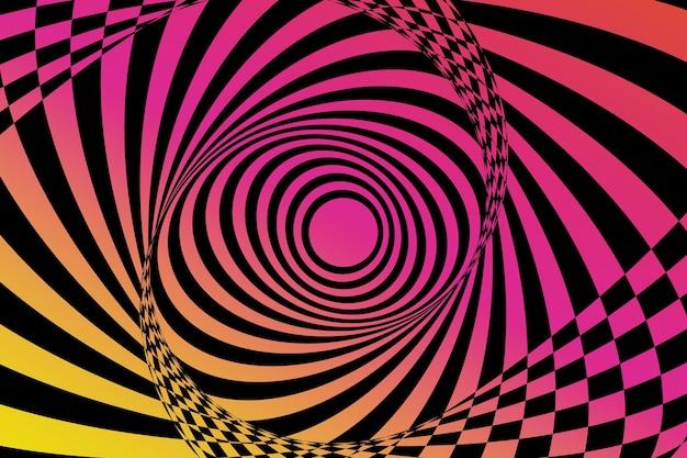 Papel de parede de ilusão de ótica