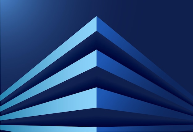 Papel de parede de ilustração vetorial de fundo de construção com cor de luz azul e borda da construção