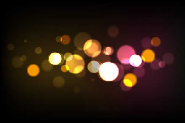 Papel de parede de luzes bokeh realistas