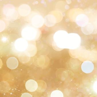 Papel de parede de mídia social com fundo bokeh dourado brilhante