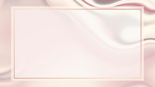 Papel de parede de moldura retângulo rosa fluido