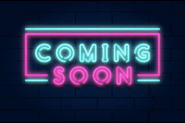 Papel de parede de néon colorido em breve