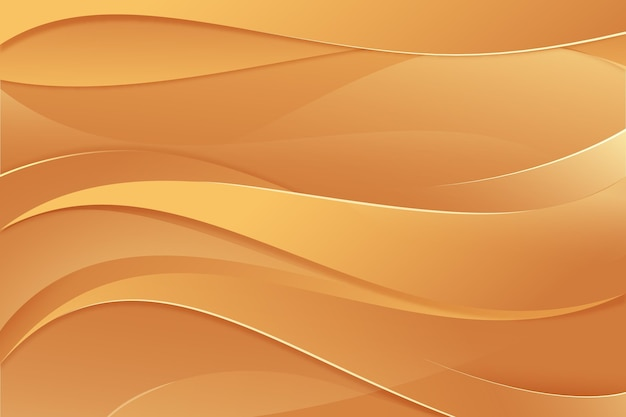 Papel de parede de onda dourada suave