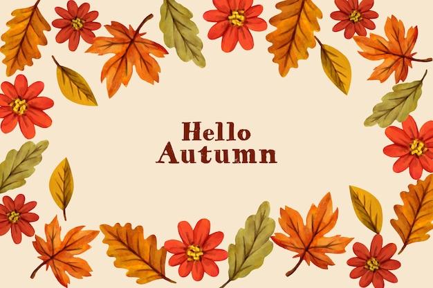 Papel de parede de outono em aquarela