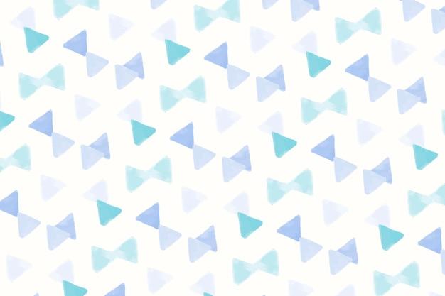 Papel de parede de padrão sem emenda em forma de triângulo azul