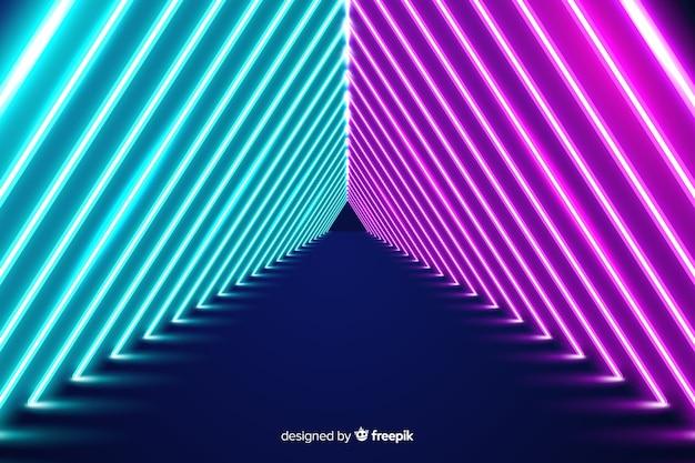 Papel de parede de palco de luzes de néon
