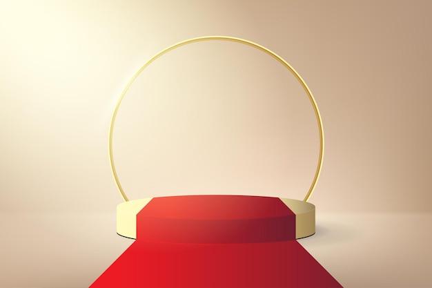 Papel de parede de pódio com conceito de tapete vermelho