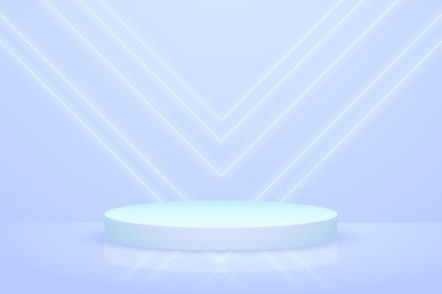 Papel de parede de pódio com formas geométricas em 3d