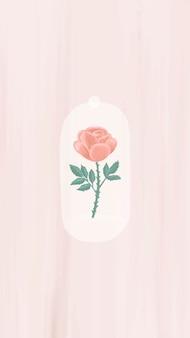 Papel de parede de rosa desenhada à mão para celular