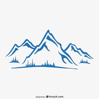 Papel de parede de tinta montanha